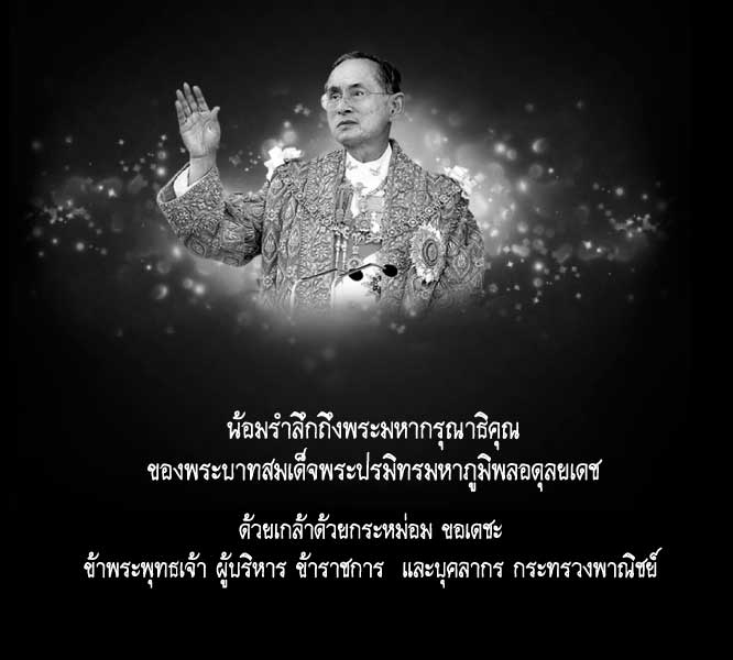In Memoriam of His Majesty King Bhumibol Adulyadej